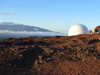 Six people just finished a yearlong experiment living inside a dome in Hawaii to simulate life on Mars. (Photo by Sian Proctor/NASA HI-SEAS)