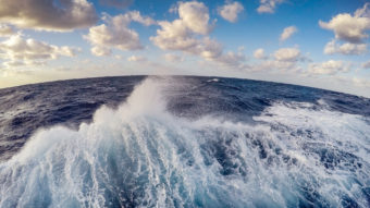 Rough seas prevented the NOAA's Okeanos Explorer from collecting data in the the Papahānaumokuākea Marine National Monument in February. NOAA Office of Ocean Exploration