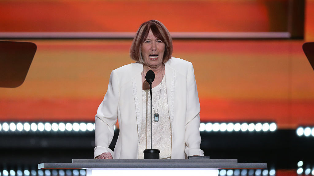 Pat Smith, mother of Benghazi victim Sean Smith, spoke during the Republican National Convention in Cleveland last month.
