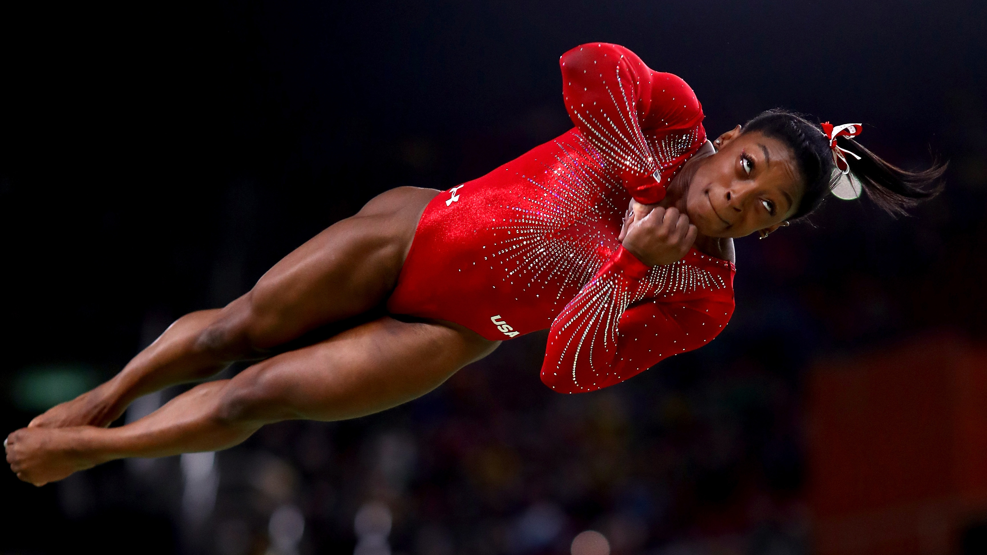 Simone Biles won the women's vault final in the Rio Olympic Arena, setting a new mark for wins in a single Olympics by an American woman. Ryan Pierse/Getty Images