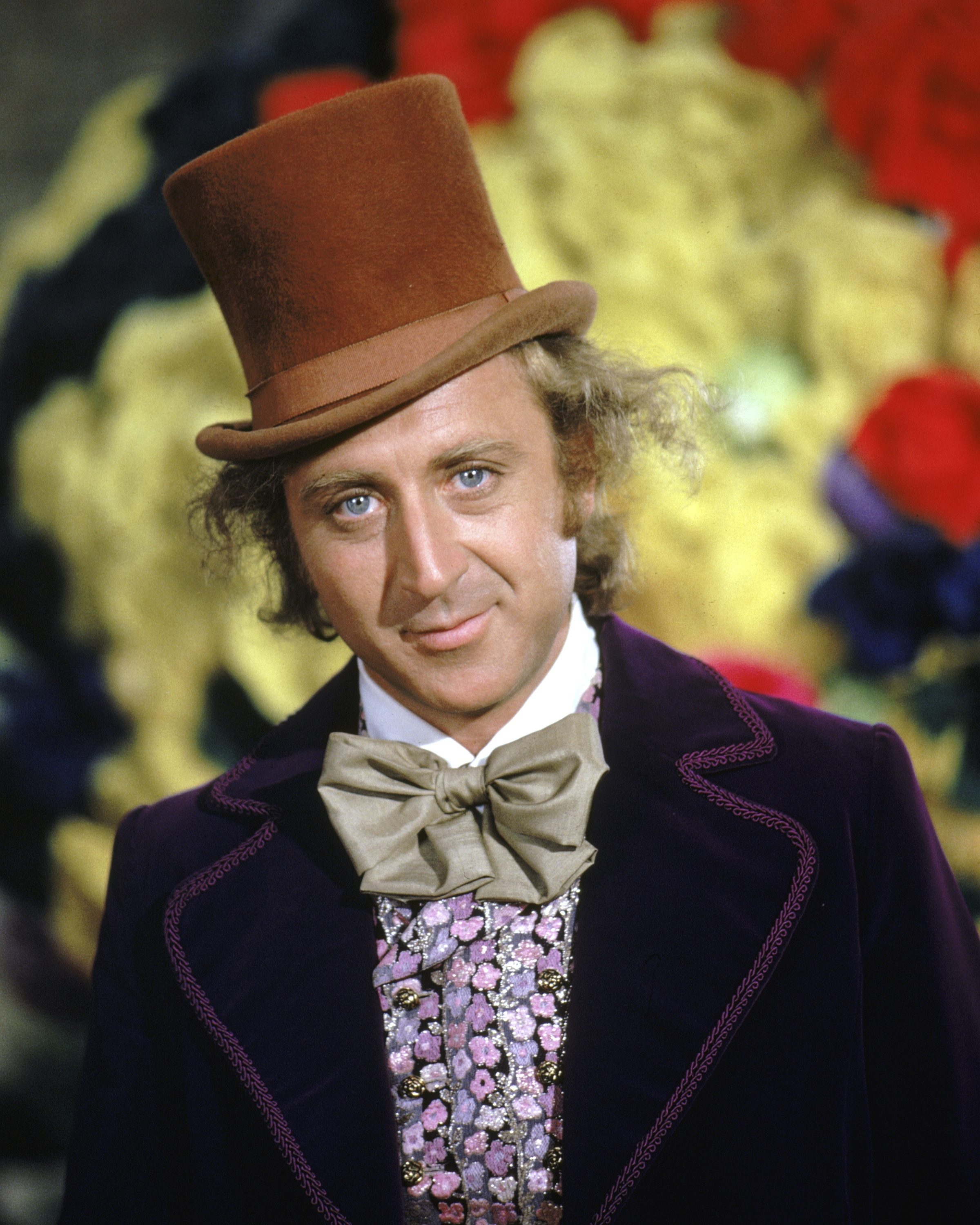 Actor Gene Wilder as Willy Wonka in Willy Wonka & The Chocolate Factory in 1971. Wilder died Monday at 83.