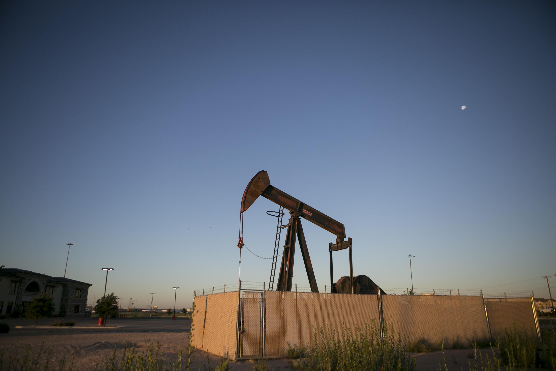 Pump jacks dot the landscape outside Midland, a West Texas oil town. (Ilana Panich-Linsman for NPR)