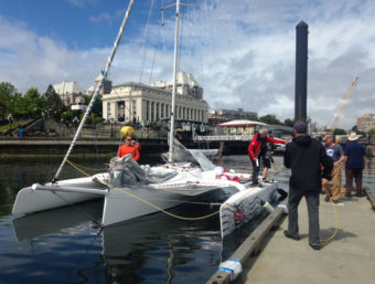 Team Mail Order Bride finished in fifth place of the first leg in Victoria, British Columbia. (File photo by Race to Alaska)