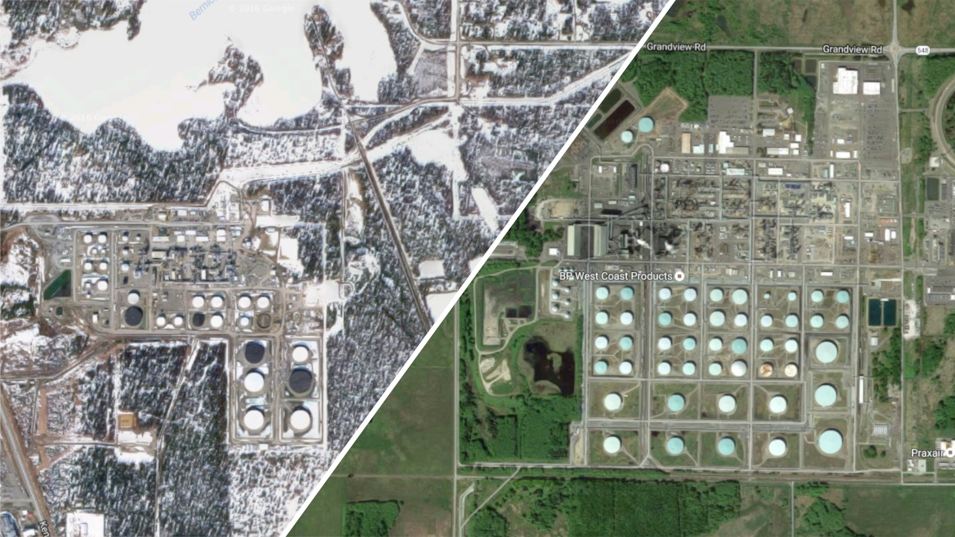 Nikiski Refinery vs Cherry Point Refinery