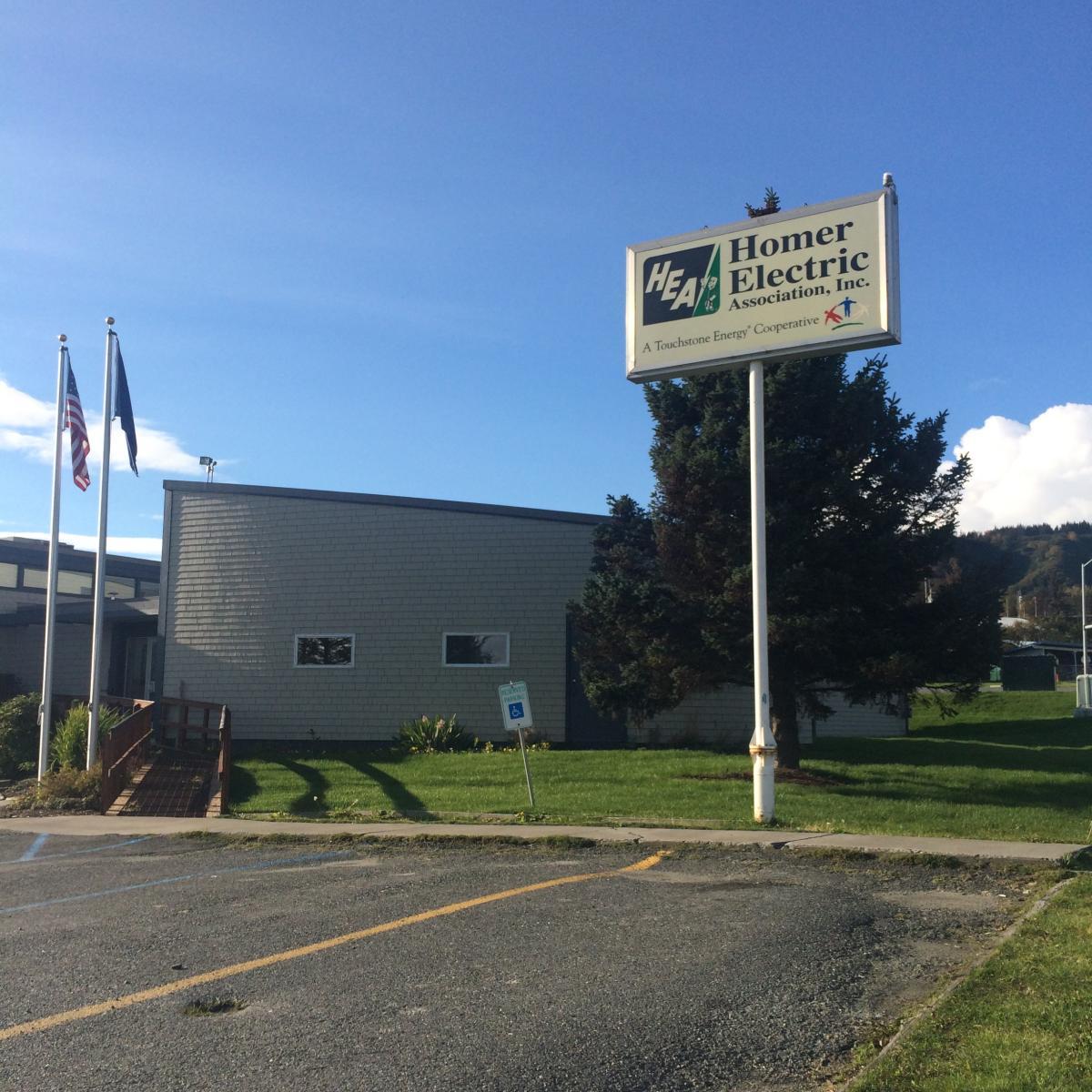 Homer Electric Association's office in Homer, Alaska. (Photo by Daysha Eaton/KBBI)