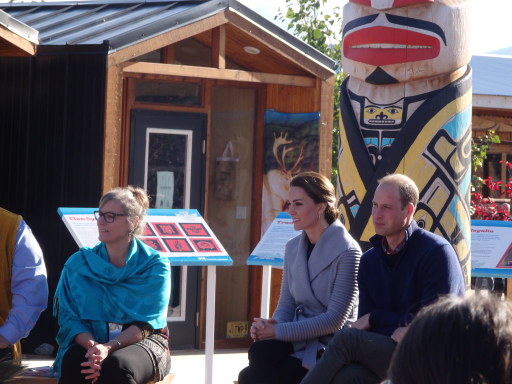 Prince William and Kate Middleton visited Carcross after a trip to Whitehorse. (Photo by Abbey Collins/KHNS)
