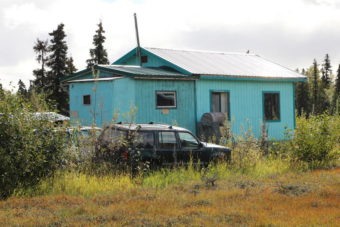 A house on Cessna where drugs and trespassers were turned up Wednesday. (Photo by KDLG)