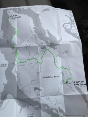 Wrangell bat survey route. (Photo by Aaron Bolton/KSTK)
