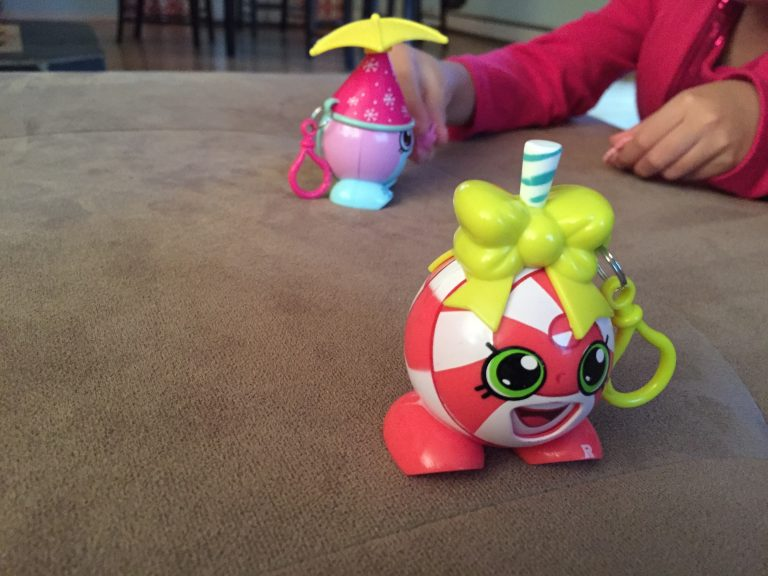 Rusty plays with her Shopkins toys. (Photo by Anne Hillman/Alaska Public Media)