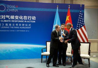 Obama Xi Jinping and Ban Ki-Moon