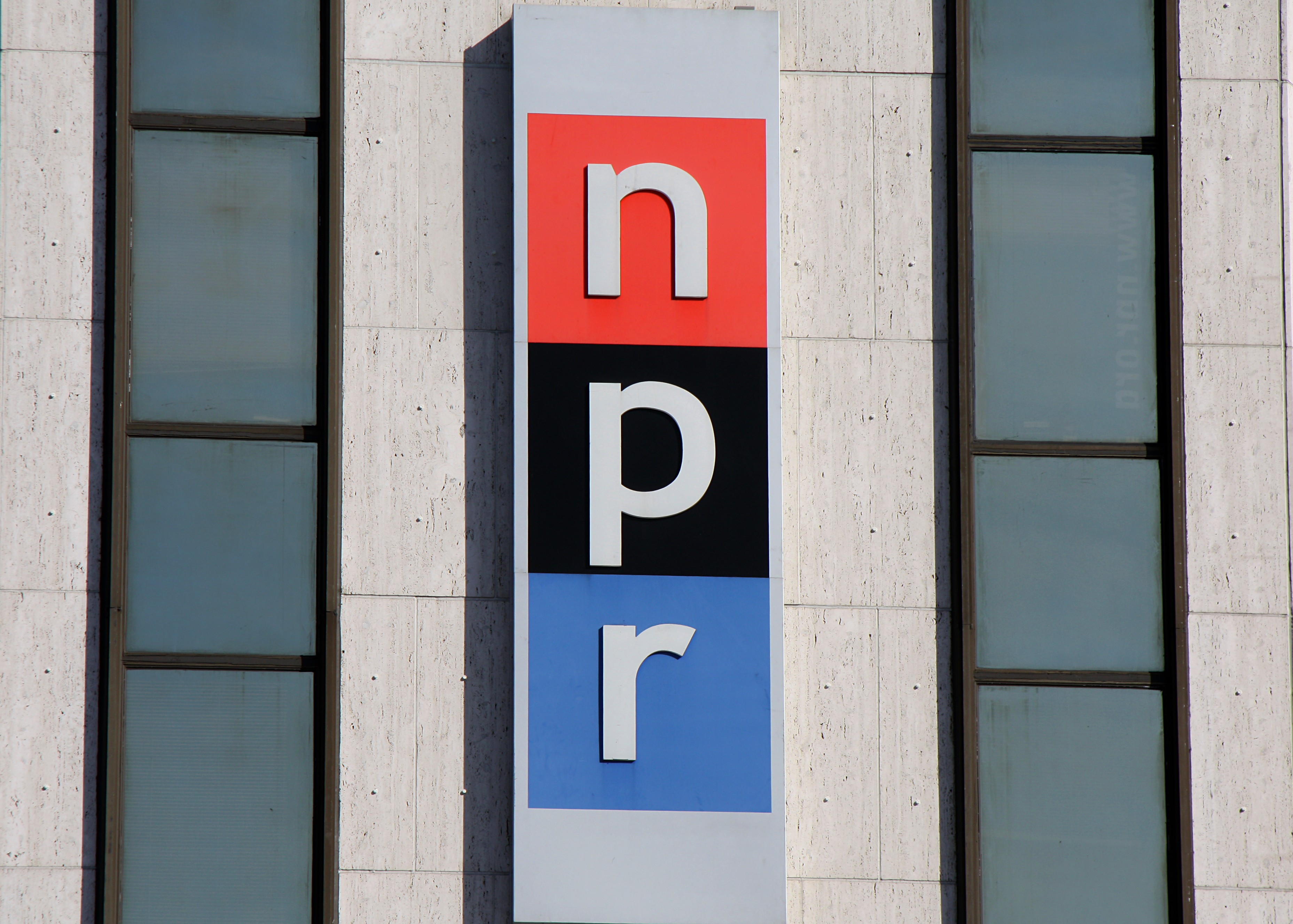 Old NPR headquarters sign