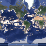 A satellite-based program from Google, Oceana, and SkyTruth hopes to help everyone  track the movement of commercial fishing vessels around the world. (Courtesy Oceana.)