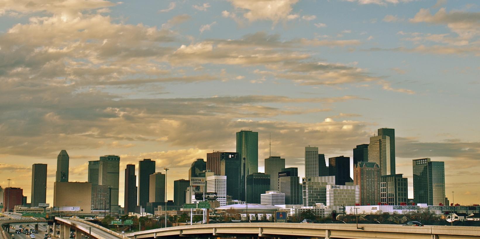 Houston's skyline in 2011.