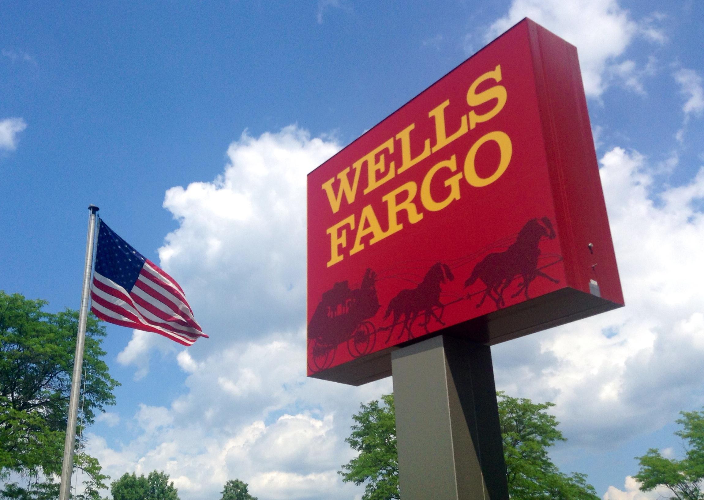 Wells Fargo bank sign