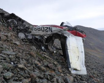 The Cessna 208 caravan that crashed midway between Quinhagak and Togiak (Photo courtesy of Alaska State Troopers)