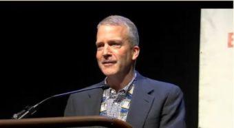 Sen. Dan Sullivan addresses the 2016 AFN on Oct. 21, 2016.