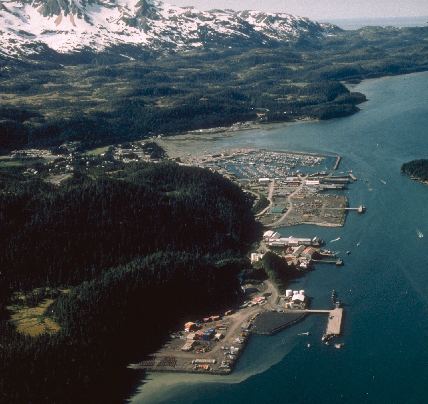 Aerial view of Cordova, Alaska. (Photo courtesy U.S. Army Corps of Engineers)