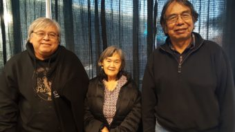 Jim LaBelle, his wife Susan LaBelle and Bob Sam at the 2016 Elders and Youth conference in Fairbanks. (Photo by Jennifer Canfield)