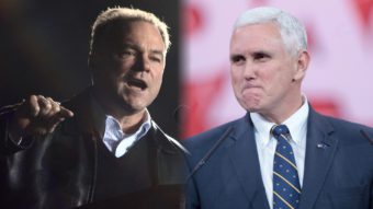 Democratic Virginia Gov. Tim Kaine in 2008 and Republican Indiana Gov. Mike Pence in 2015.