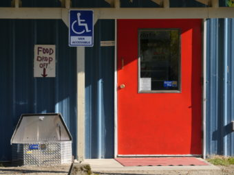 Front door of the Southeast Alaska Food Bank.