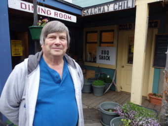 Robert Gibson currently operates the BBQ Shack in Skagway. (Photo by Emily Files/KHNS)
