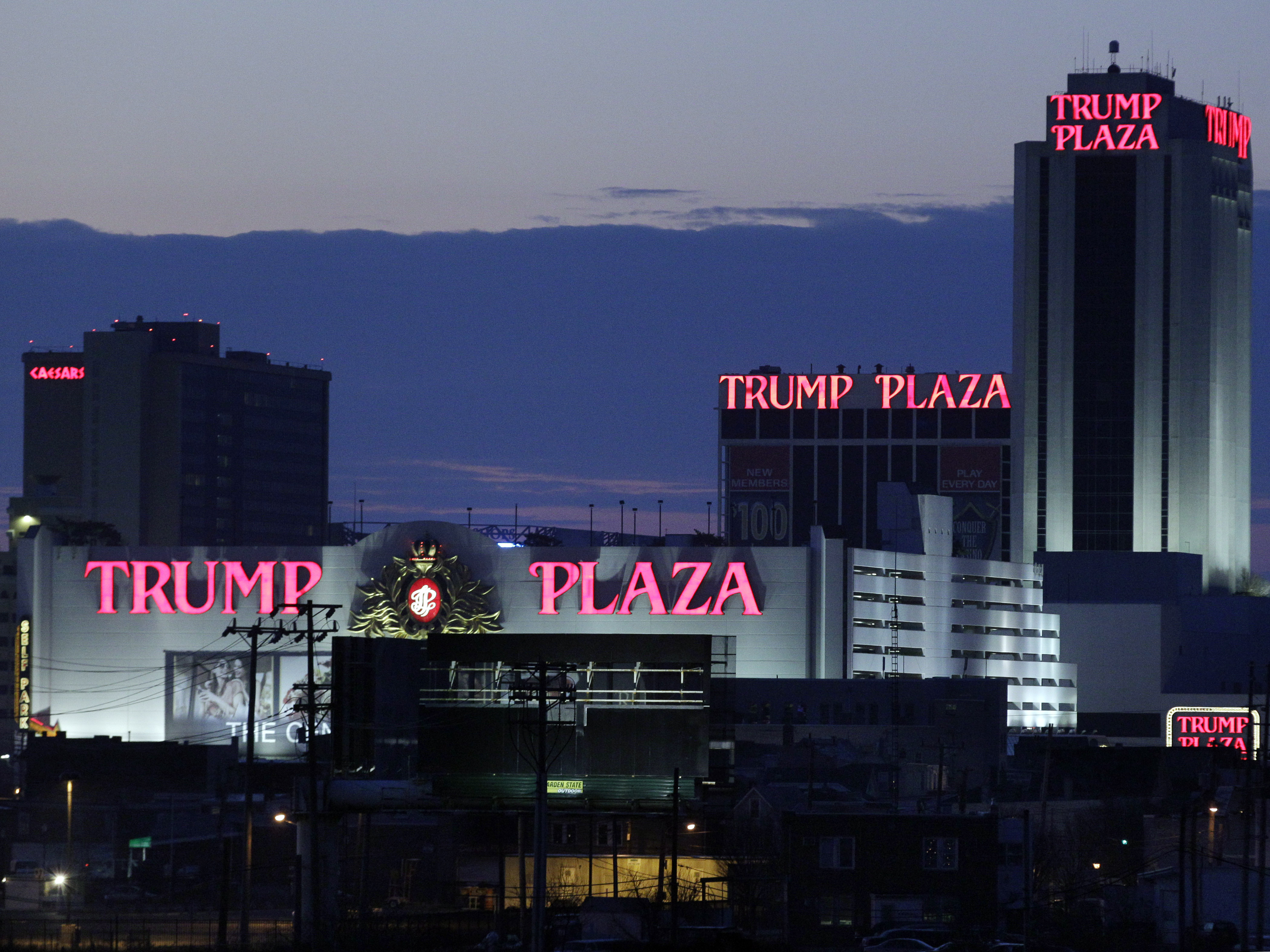 The Trump Plaza Hotel and Casino in Atlantic City before it closed on Sept. 16, 2014. (Photo by Mel Evans/Associated Press)