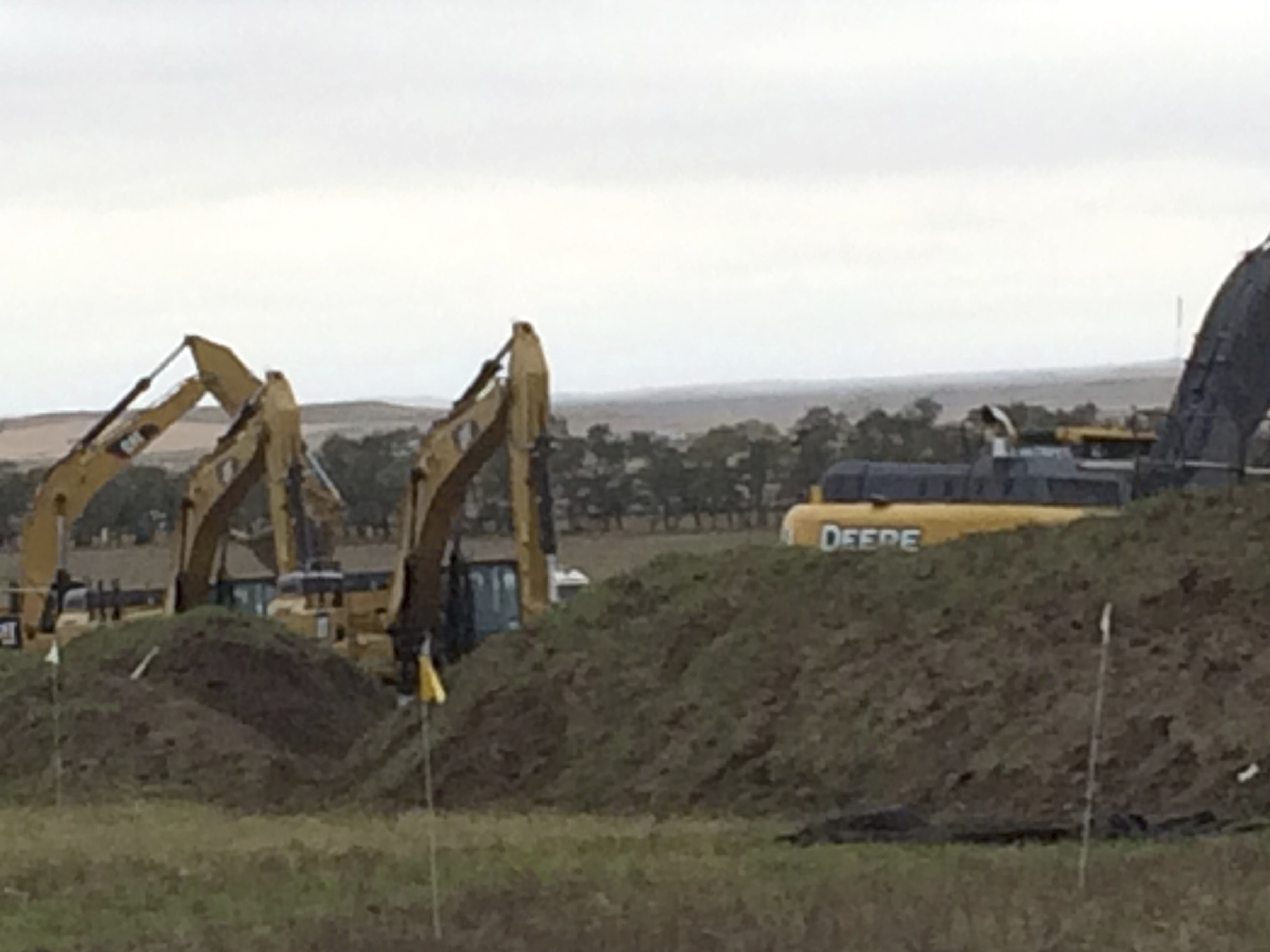 Work resumed Tuesday on the Dakota Access Pipeline, near St. Anthony, N.D.