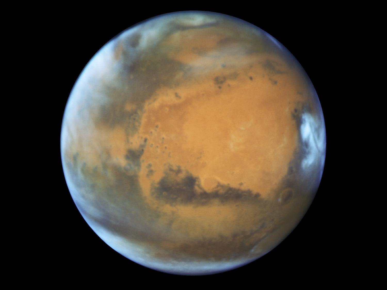 An image of Mars taken on May 12.(NASA/ESA/Hubble Heritage Team - STScI/AURA, J. Bell - ASU, M. Wolff - Space Science Institute via AP)
