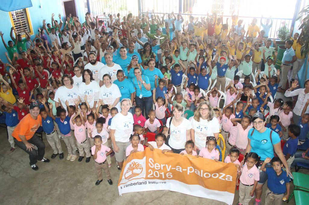 Bethel-based optometrists traveled to the Dominican Republic to work with a team that provided eye exams to 350 children earlier this month. (Photo by Enver Fernandez/Timberland)