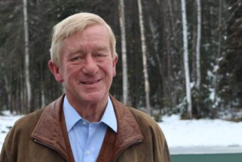 Bill Weld, former governor of Massachusetts, is the Libertarian Party's nominee for Vice President with running mate Gary Johnson. He stopped by Alaska Public Media to discuss his platform. (Photo by Wesley Early, Alaska Public Media)
