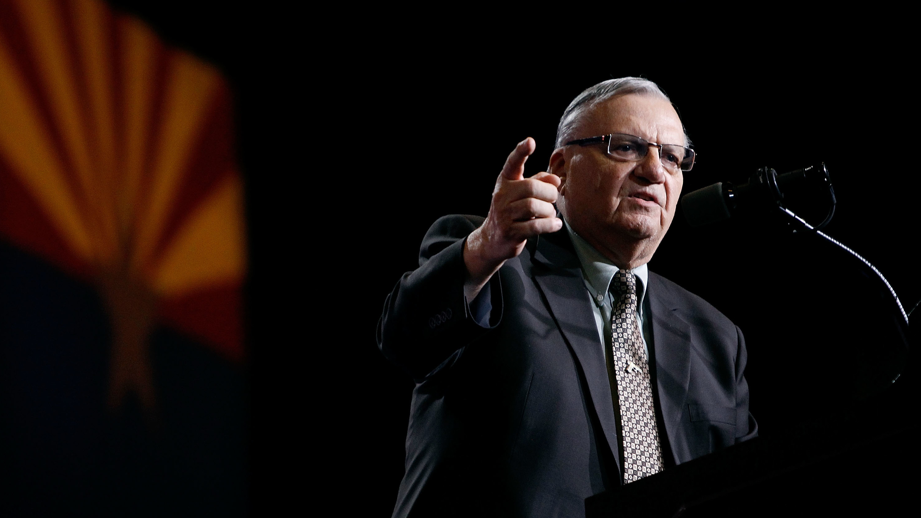Maricopa County Sheriff Joe Arpaio campaigns for Donald Trump Aug. 31 in Phoenix. Ralph Freso/Getty Images