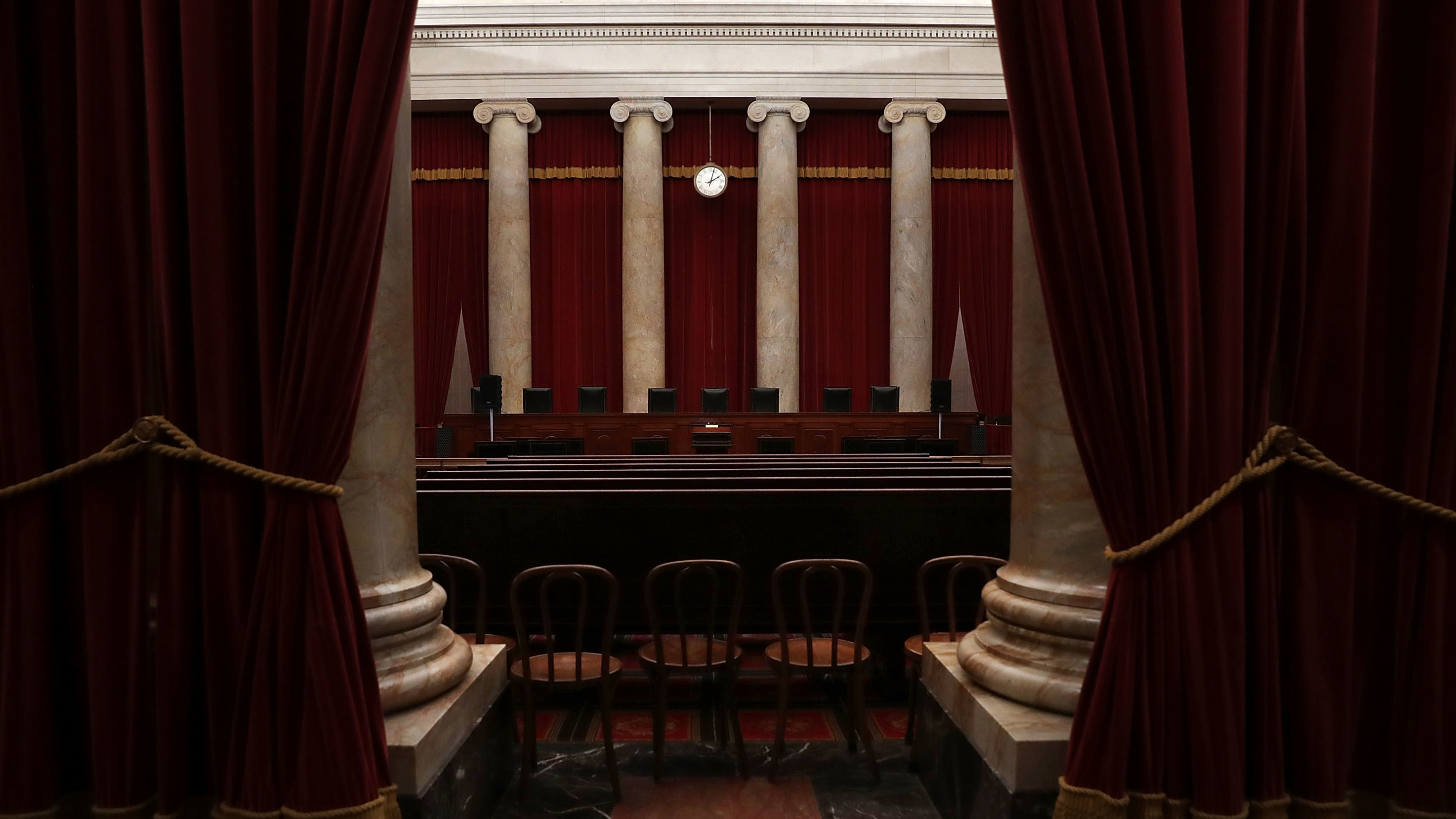 The courtroom of the U.S. Supreme Court seen ahead of the start of the term. (Photo by Alex Wong/Getty Images)