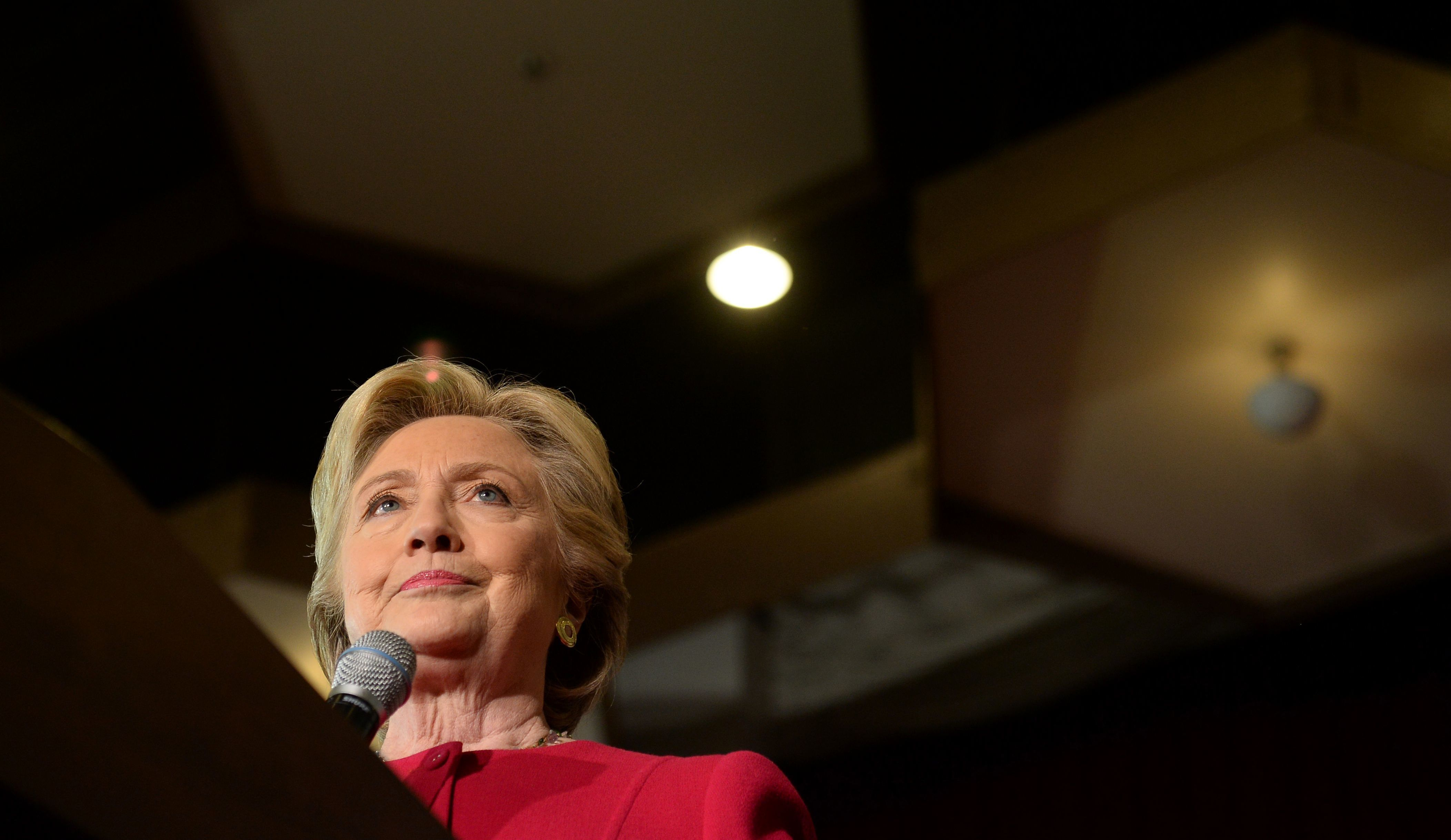 Hillary Clinton addresses an early vote rally at Broward College in Coconut Creek, Fla. on Tuesday. WikiLeaks continues to release emails  hacked from the personal account of Clinton's campaign chairman John Podesta.