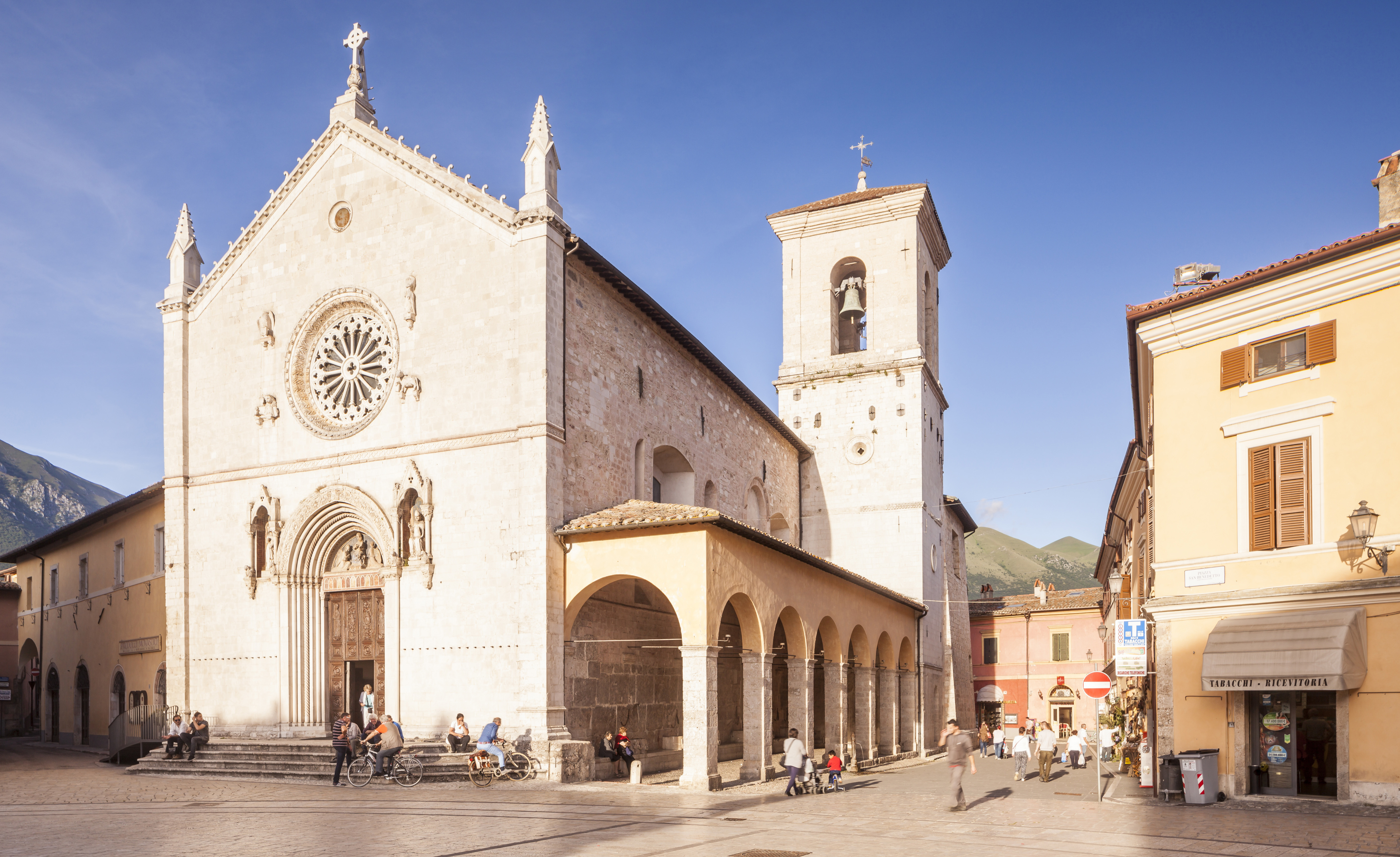An earthquake has virtually destroyed the basilica of San Benedict in Piaza San Benedetto in Norcia, Italy. Julian Elliott Photography/Getty Images