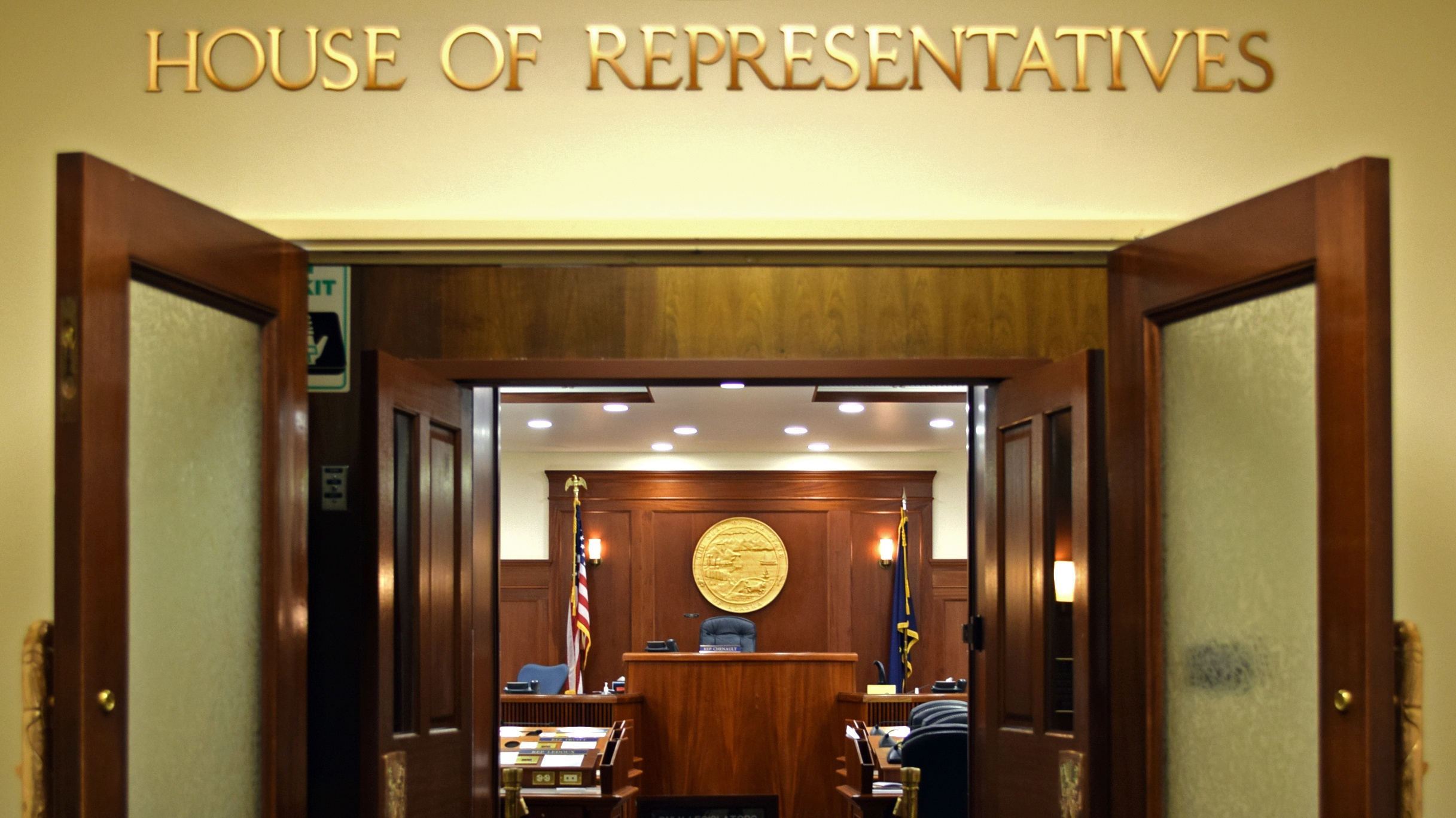 The Alaska House of Representatives entrance in the Capitol in Juneau, Feb. 6, 2015. (Photo by Skip Gray/360 North)