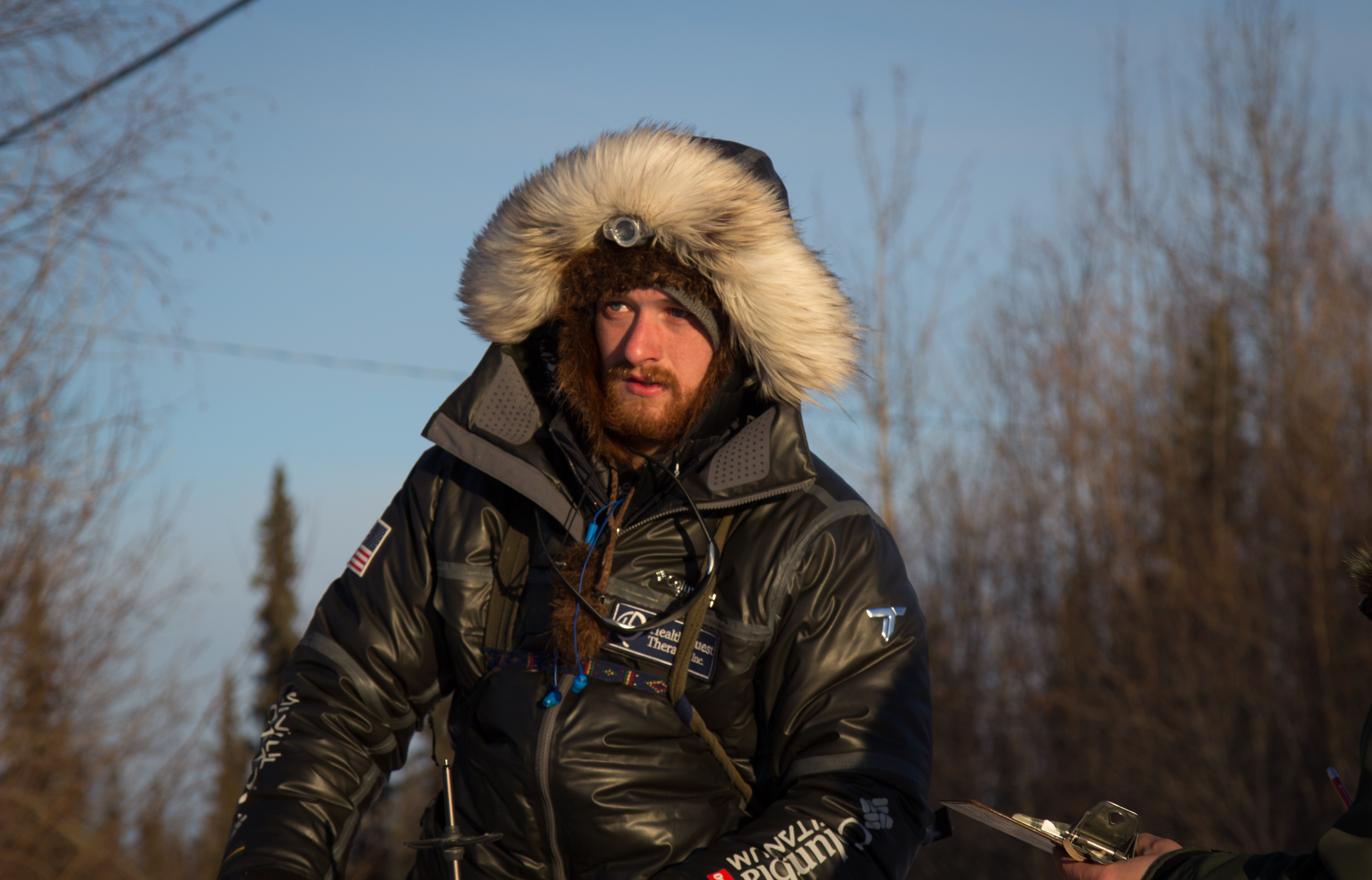 Wade Marrs pulls in to Galena in the 2016 Iditarod. (Photo by Zach Hughes/KSKA)