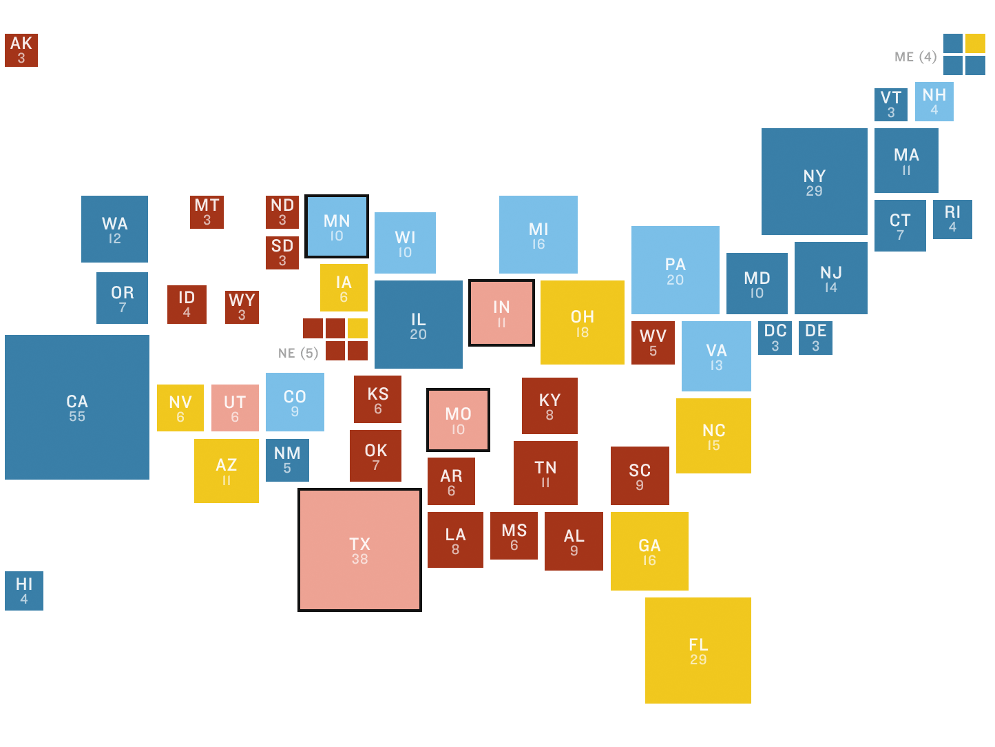 NPR Election 2016 Battleground Map