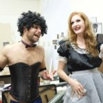 "Alex Thompson and Melissa Patterson chat backstage during Gold Town Nickelodeon's screening of ""Rocky Horror Picture Show"" last year."
