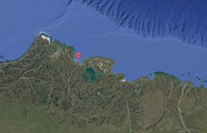 Smith Bay is about 150 miles west of Prudhoe Bay. (Image: Google)