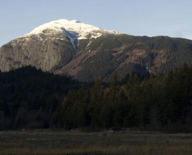 Snow caps Mount Ripinsky in Haines in November.