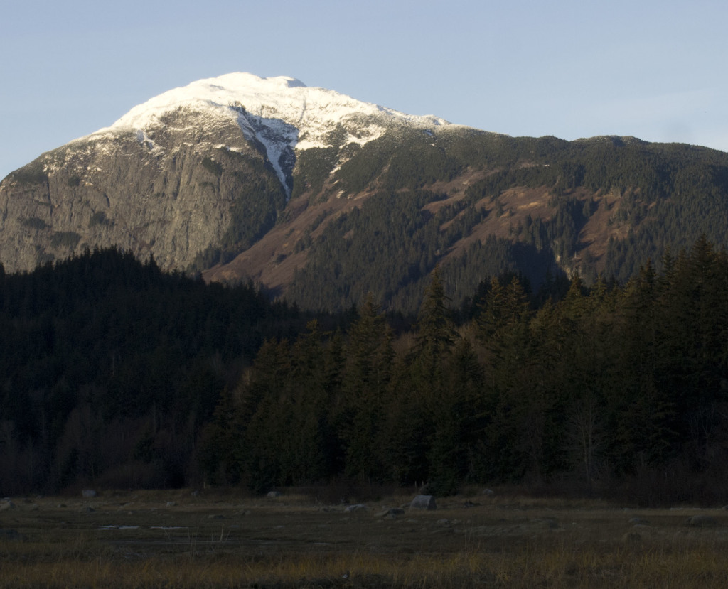 Snow caps Mount Ripinsky in Haines in November.