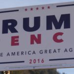 A Trump campaign sign posted in Juneau. (Photos by Quinton Chandler/KTOO)