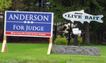 Campaign sign in Mount Pocono, Pennsylvania