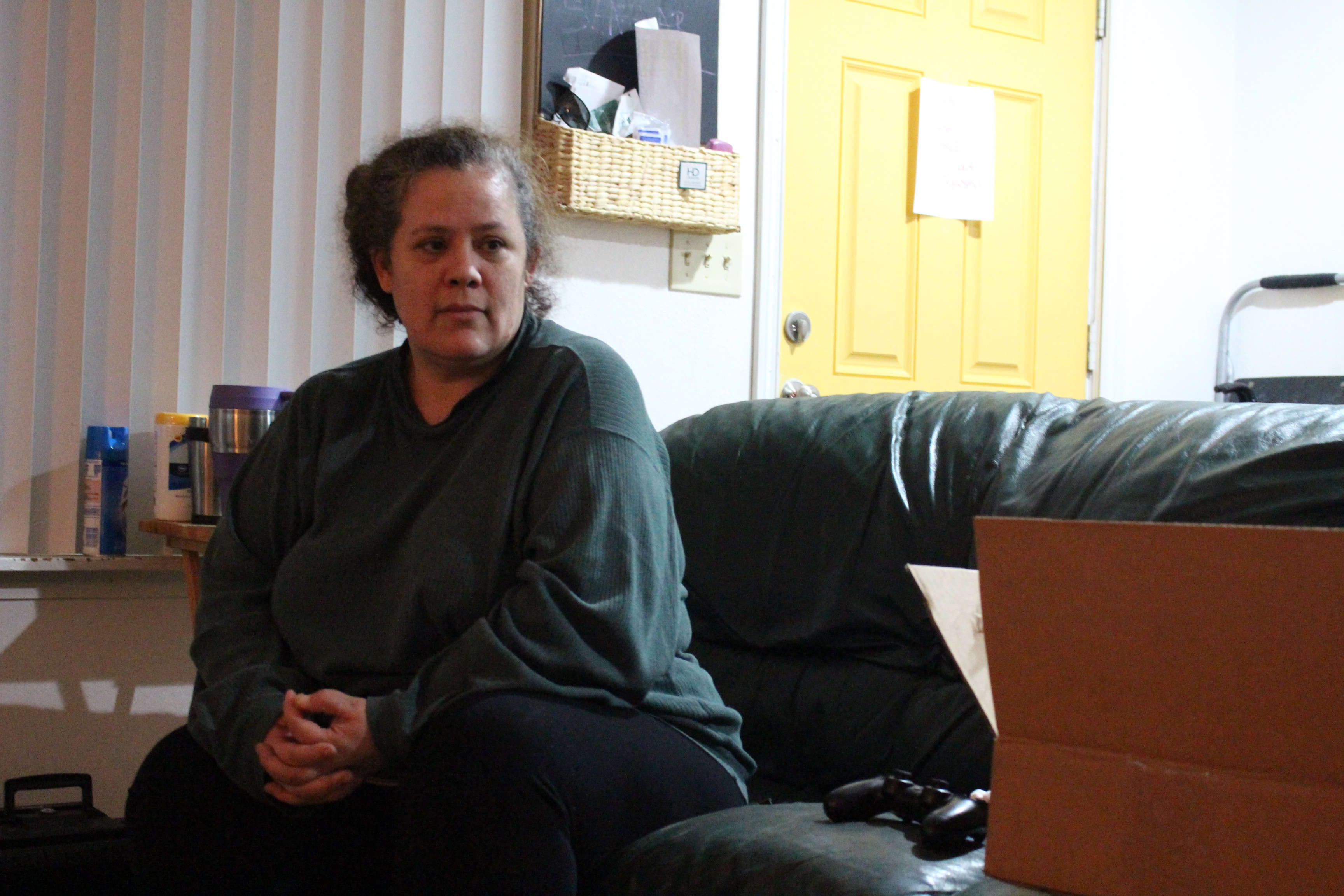 Diane Buck at her home in Juneau. (Photo by Elizabeth Jenkins/Alaska's Energy Desk)
