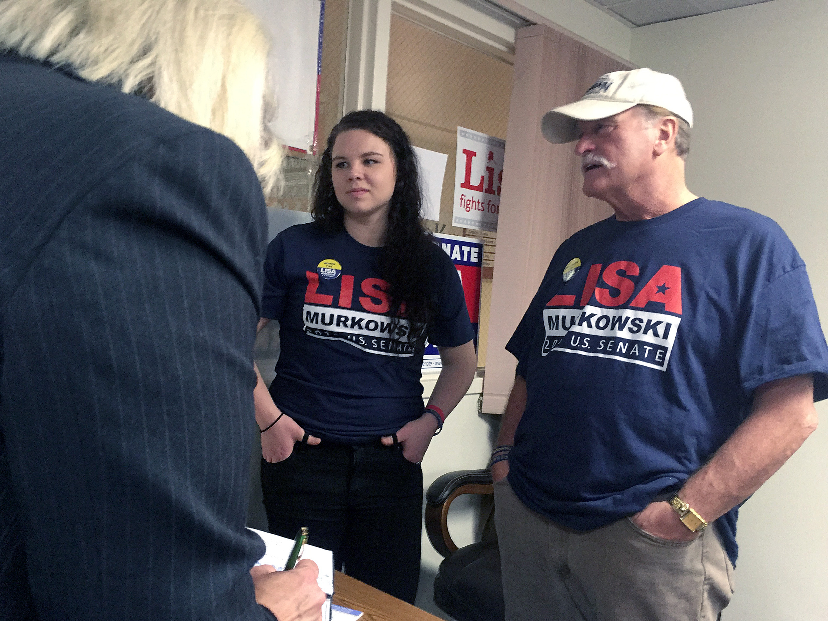 Don Kubley chats with guests during a meet-and-greet with U.S. Senate candidate Lisa Murkowski on Oct. 17, 2016 in Juneau, Alaska. Kubley is supporting Donald Trump for president and says energy policy and Alaska's future weighed heavily on the decision. (Photo by Rashah McChesney/Alaska's Energy Desk)