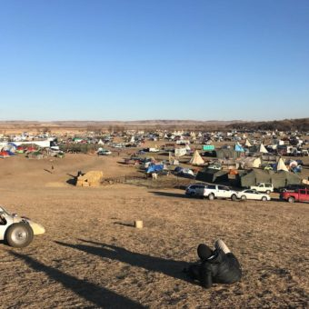 Protesters camp at Standing Rock. (Photo by Amanda Frank/KUAC)