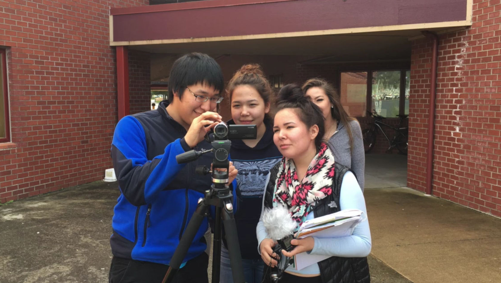 "Five high school students took part in a film-making class last year and will showcase their work in ""Our Alaskan Stories."" (Screen grab from The Island Institute)"