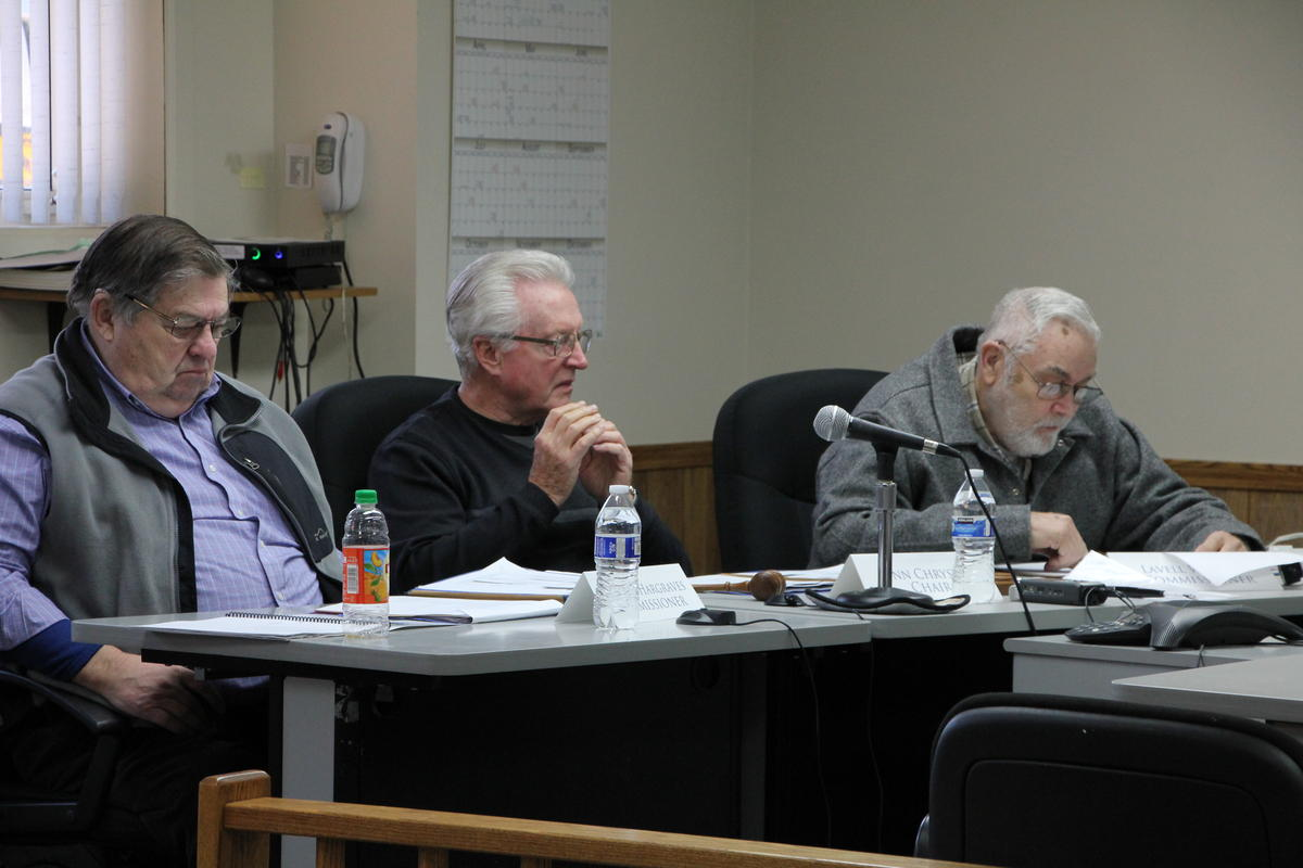 Commissioners Darroll Hargraves, Lynn Chrystal, and Lavell Wilson were present for three days of public hearings in the Bristol Bay region. Pictured here in Dillingham Tuesday.