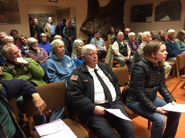 Members of the public at the Kodiak Island Borough Assembly regular meeting.