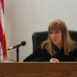 District Court Judge Kirsten Swanson presides over her first case on Dec. 2, 2016.
